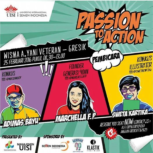 Talkshow-Passion-to-Action-Generasi-90an-Sweta-Kartika-UISI-Gresi-Februari-2016