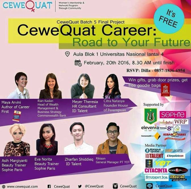 Talkshow-Women-Career-Future-CeweQuat-Unas-Jakarta-Februari-2016
