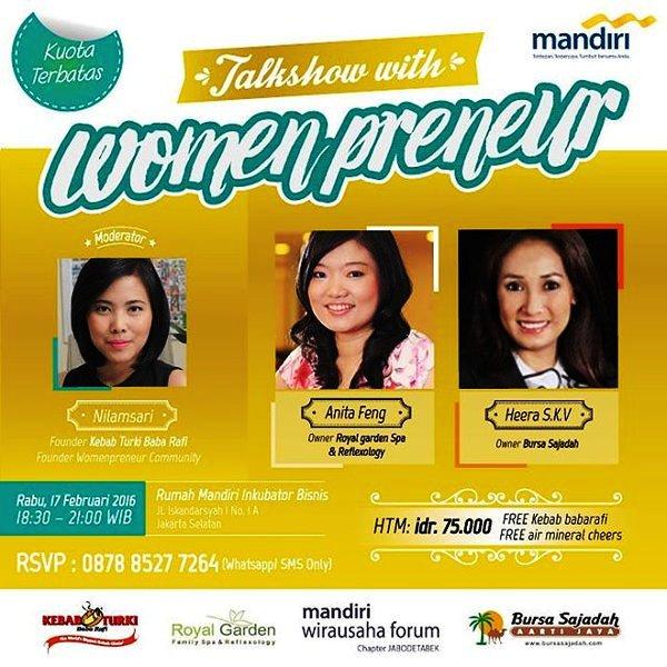 Talkshow-Womenpreneur-Mandiri-Wirausaha-Forum-Nilamsari-Kebab-Februari-2016-Mandiri