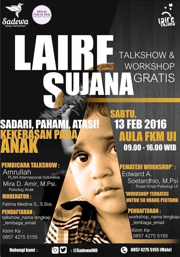 Talkshow-Workshop-Laire-Sujana-Kekerasan-Pada-Anak-FKM-UI-Depok-Februari-2016