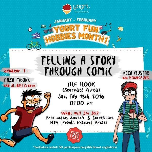 Talkshow-Yogrt-Fun-Hobbies-Month-Comic-Faza-Meonk-Juki-Februari-2016