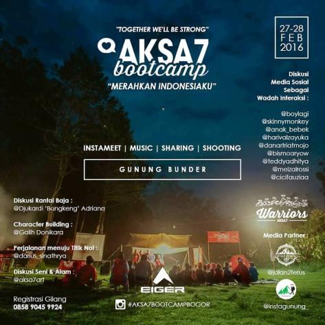 Travel-Blogger-@aksa7art-Bootcamp-eiger-gunung-bunder-Bogor-Februari-2016