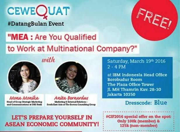 CeweQuat-#DatangBulan-Event-Maret-Jakarta-MEA-2016