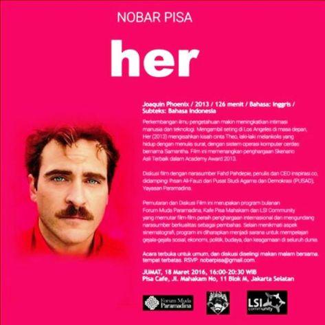 Nobar-Diskusi-Film-HER-Forum-Muda-Paramadina-Kafe-Pisa-Mahakam-LSI-Community-Jakarta-Maret-2016