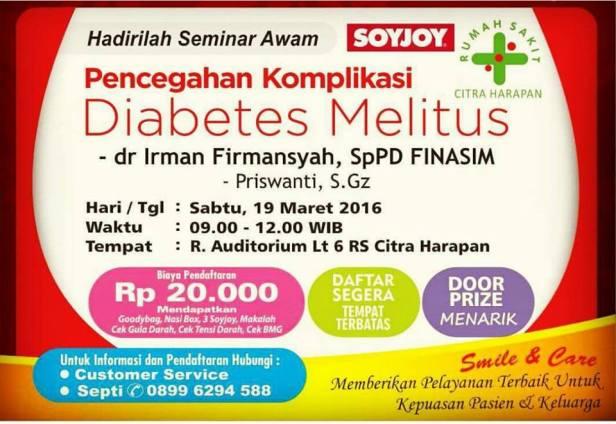 Seminar-Awam-Citra-Harapan-SOYJOY-Diabetes-Melitus-Bekasi-Maret-2016