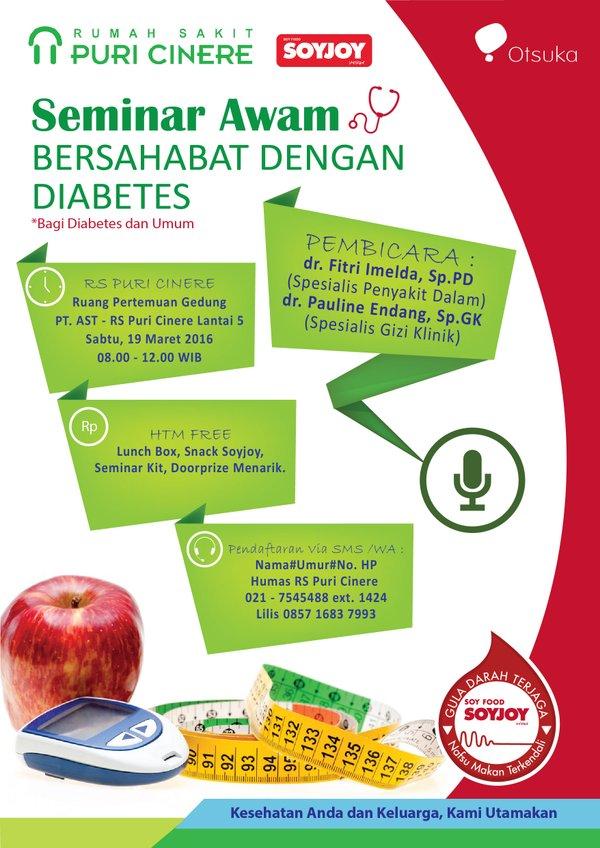 Seminar-Awam-Diabetes-Puri-Cinere-Soyjoy-Depok-Maret-2016
