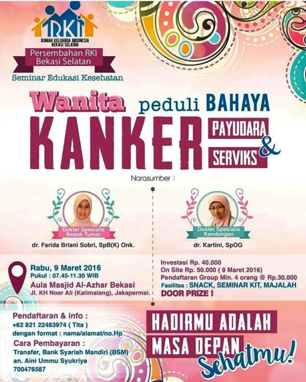 Seminar-Edukasi-Kesehatan-RKI-Kanker-Payudara-Serviks-Bekasi-2016