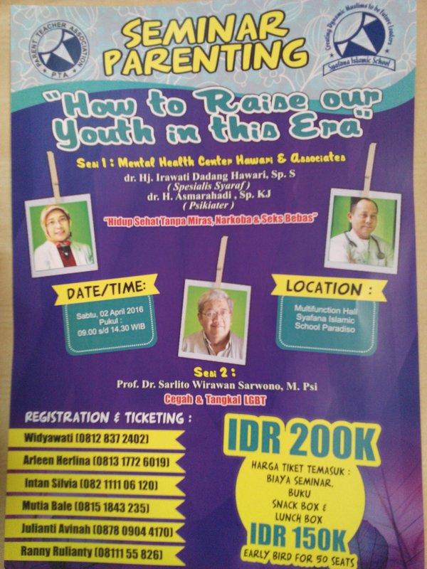 Seminar-Parenting-Dadang-Hawari-Sarlito-Syafana-Islamic-Scholl-Pardiso-Tangerang-April-2016