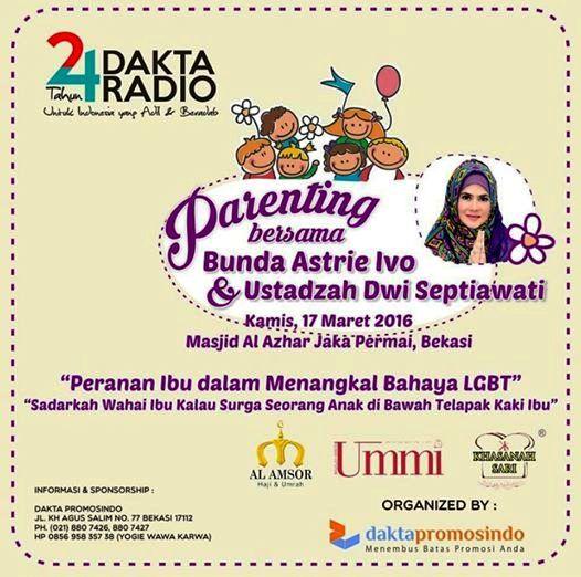 Seminar-Parenting-LGBT-Astrie-Ivo-Dakta-Radio-Bekasi-Maret-2016