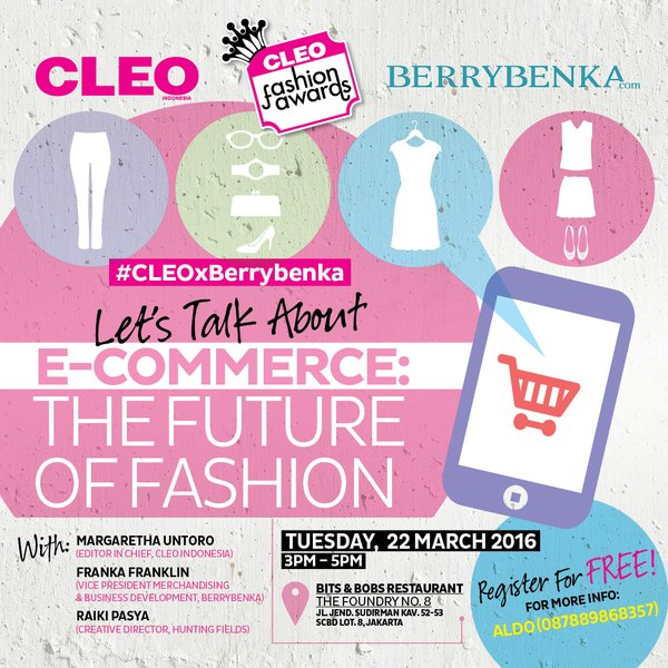 Talkshow-CLEO-BERRYBENKA-E-COMMERCE-SCBD-MARET-JAKARTA-2016