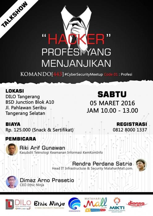 Talkshow-Profesi-Hacker-DILO-Tangerang-Maret-2016