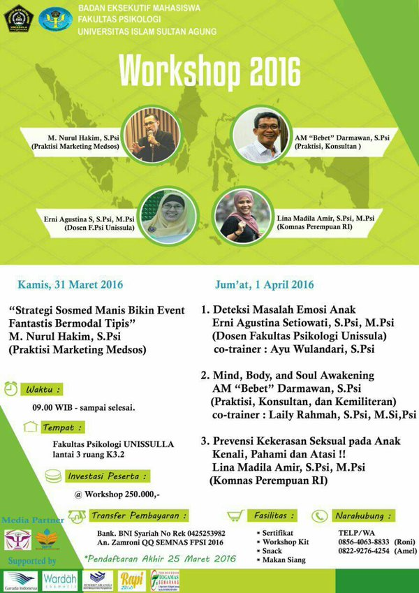 Workshop-Media-Sosial-Psikologi-unissula-semaranb-Maret-April-2016