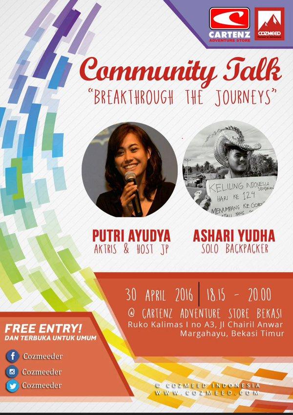 Community-Talk-Blogger-Travel-Cartenz-Cozmeed-Bekasi-April-2016