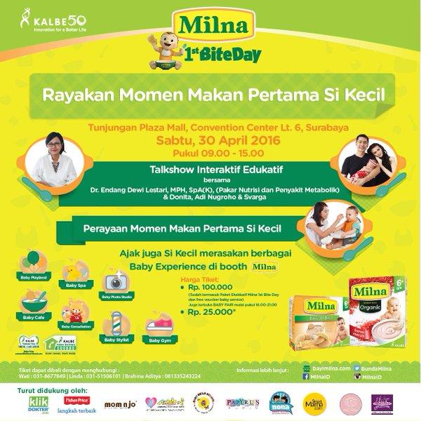 Info Liputan Blogger Surabaya: Kalbe-Milna First BiteDay