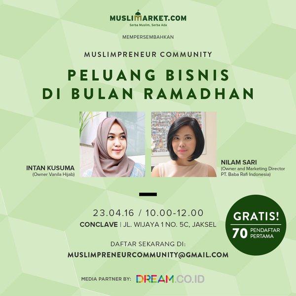 Muslimarket-Muslimpreneur-Talkshow-Nilam-Sari-Baba-Rafi-Ramadhan-April-Jakarta-2016