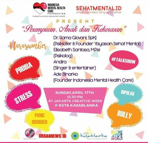 Talk-Show-Mental-Health-Care-Jakarta-Creative-Week-April-Kalarta-2016