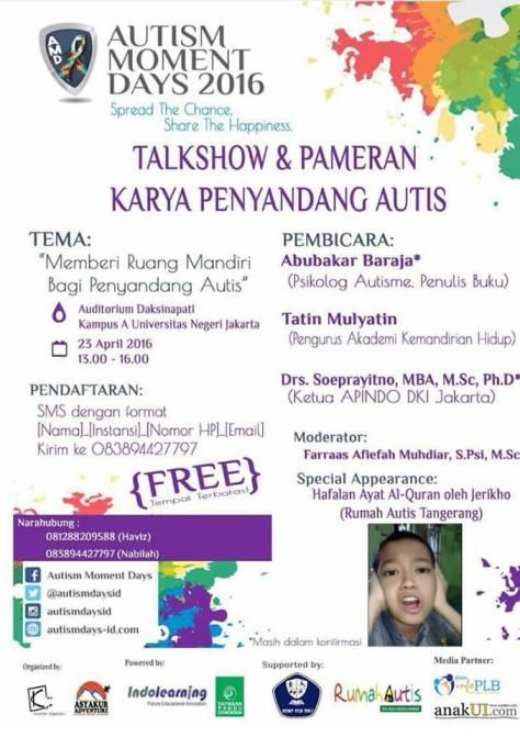 Talkshow-Autism-Moment-Days-2016-Autis-UNJ-Jakarta--April-2016