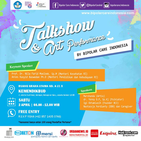 Talkshow-Bipolar-Care-Indonesia-Marshanda-Anies-Baswedan-Jakarta-2016
