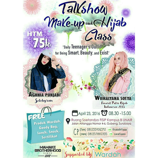 Talkshow-Wardah-Beauty-House-UNAIR-April-Surabaya-Hijab-Class-2016