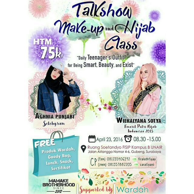 Talkshow-Wardah-Beauty-House-UNAIR-April-Surabaya-Hijab-Class-2016