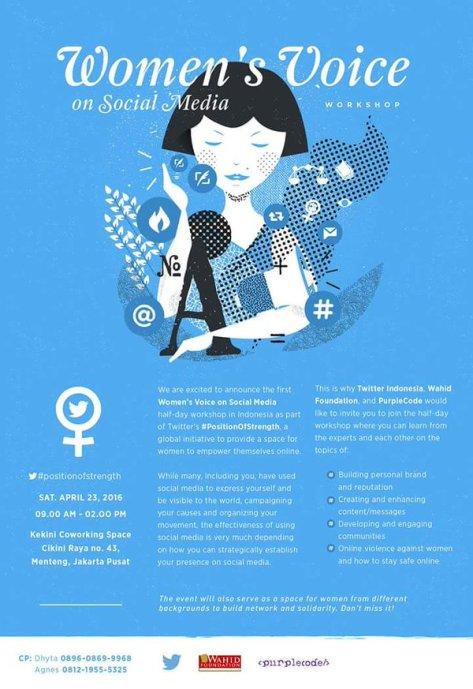 Workshop Women-Voice-Social-Media-Cikini-Wahid-Jakarta-April-2016