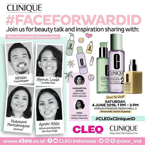Info Liputan Blogger Jakarta: Cleo-Clinique Beauty Talk
