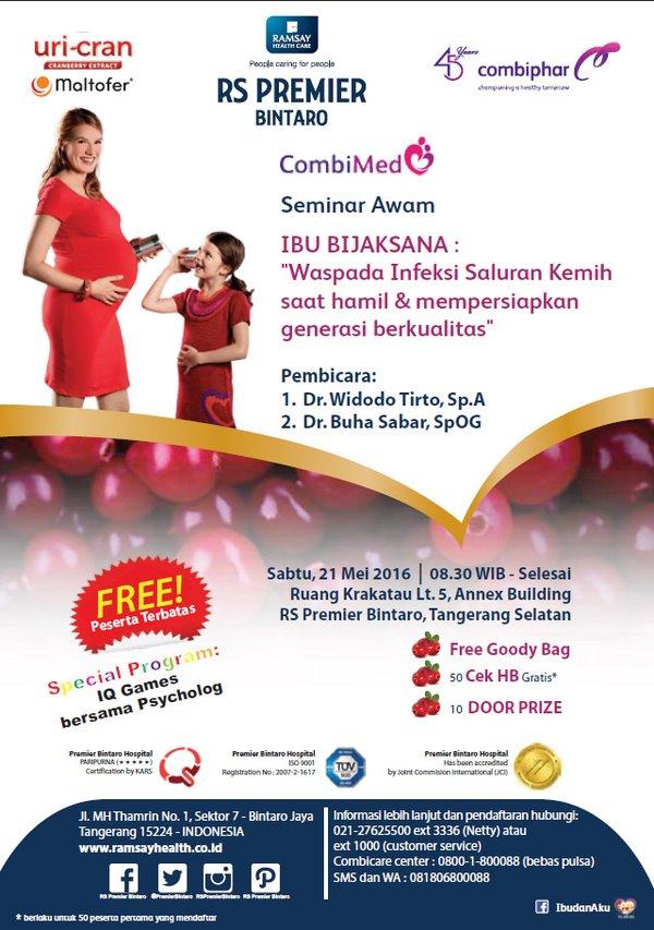 Info Liputan Blogger Tangerang: Seminar Awam RS PREMIER Combiphar