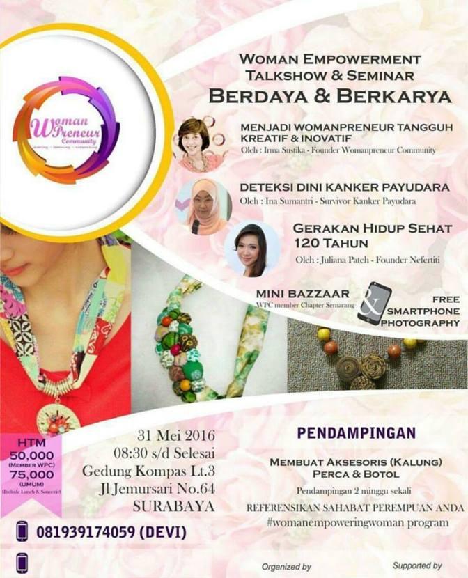 Info Liputan Blogger Surabaya: Woman Empowerment Talkshow